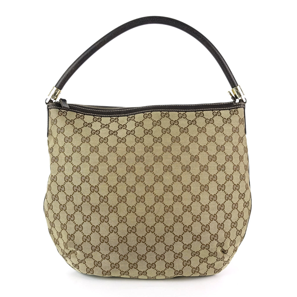 GG Monogram Canvas and Leather Hobo