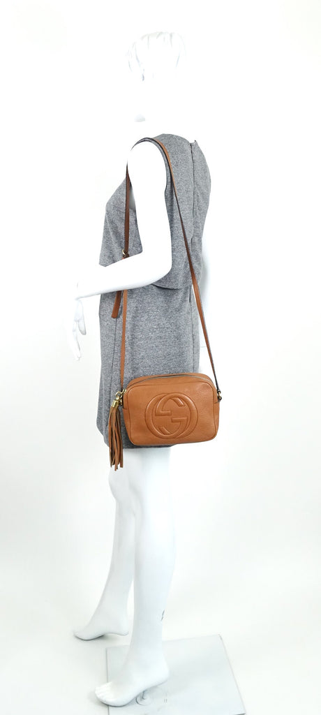 Soho Disco Grained Calfskin Leather Shoulder Bag