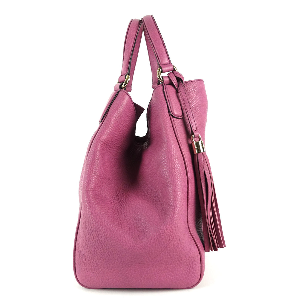 Soho Calfskin Leather Tassel Handbag