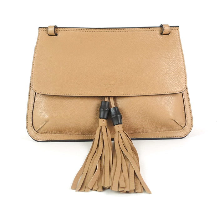 Bamboo Daily Flap Calf Leather Bag
