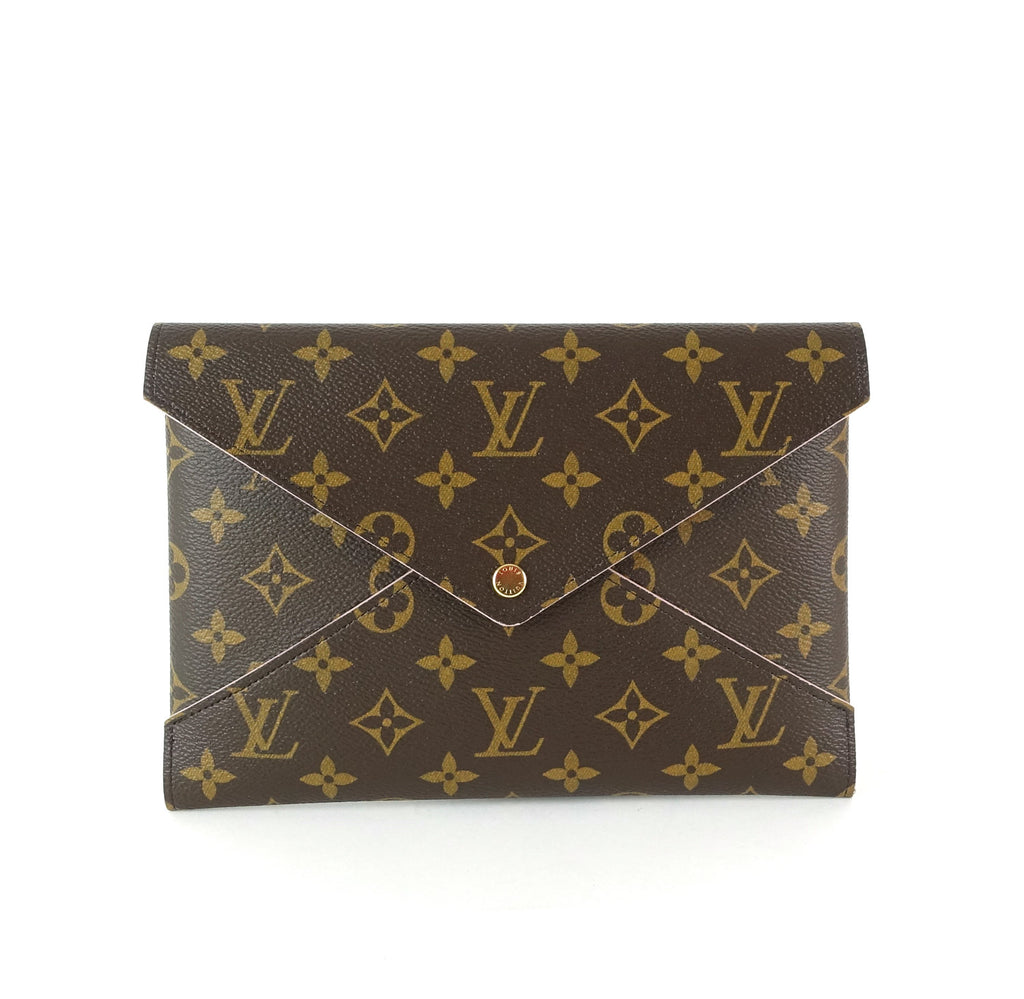 Kirigami Large Monogram Canvas Clutch Bag