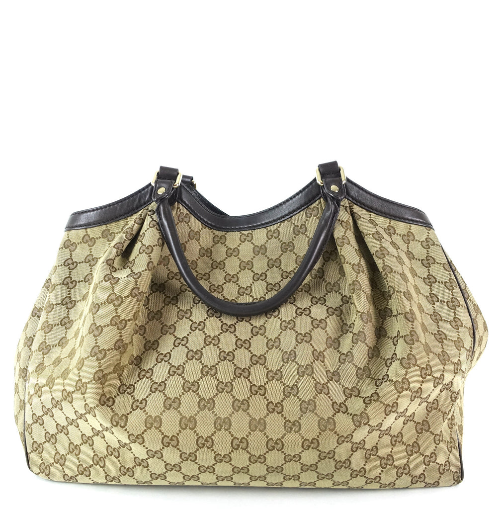 Sukey Monogram Canvas Large Tote Bag