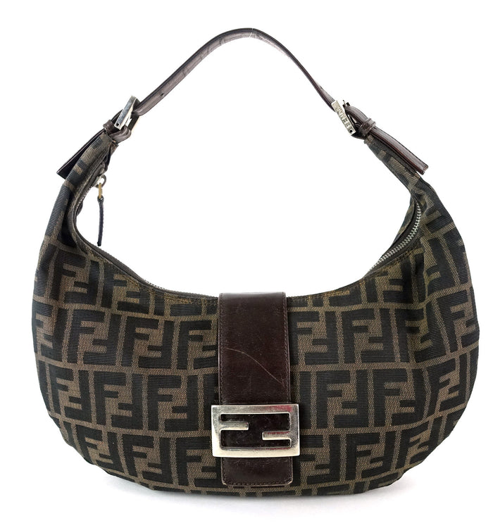 Monogram Canvas Looped Handle Hobo Bag