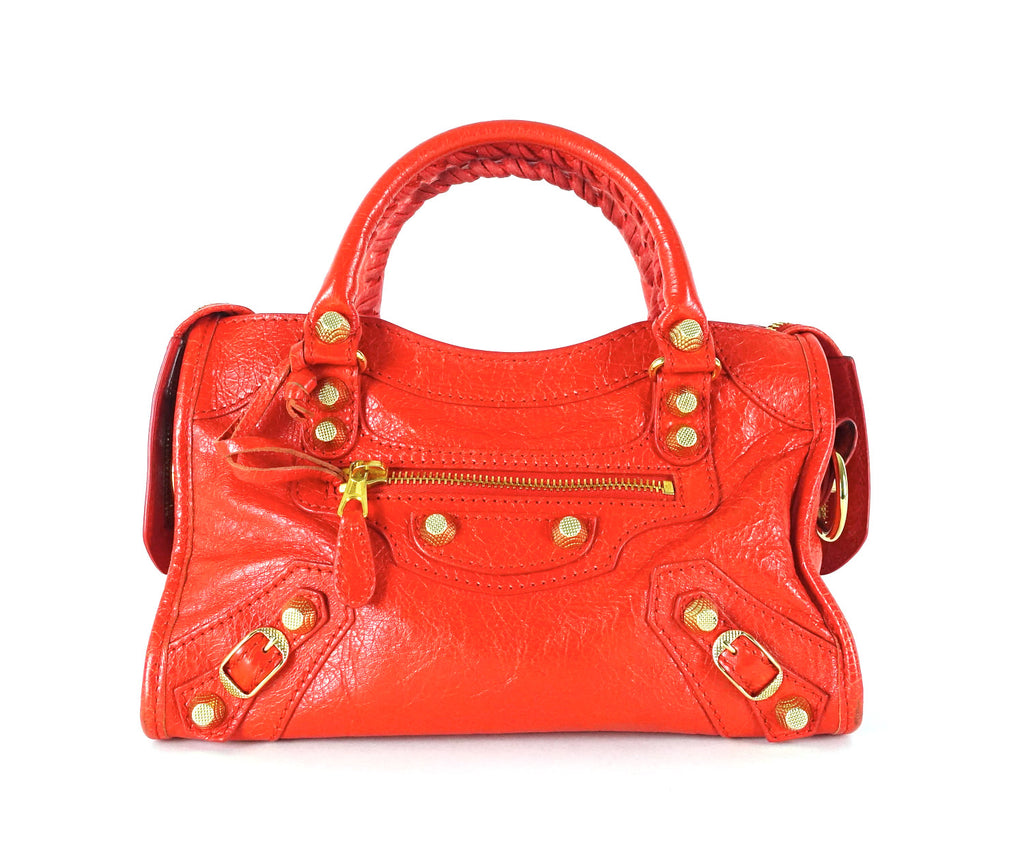 Classic Agneau Leather Mini City Bag