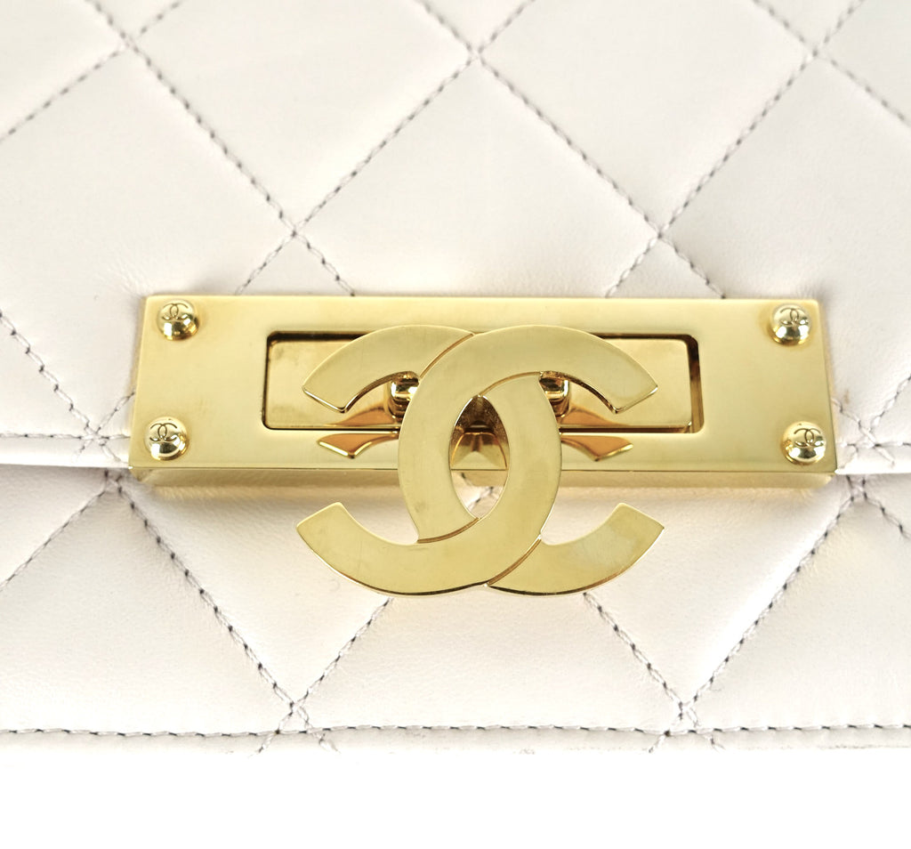 Wallet on Chain Golden Class Lambskin Leather Bag