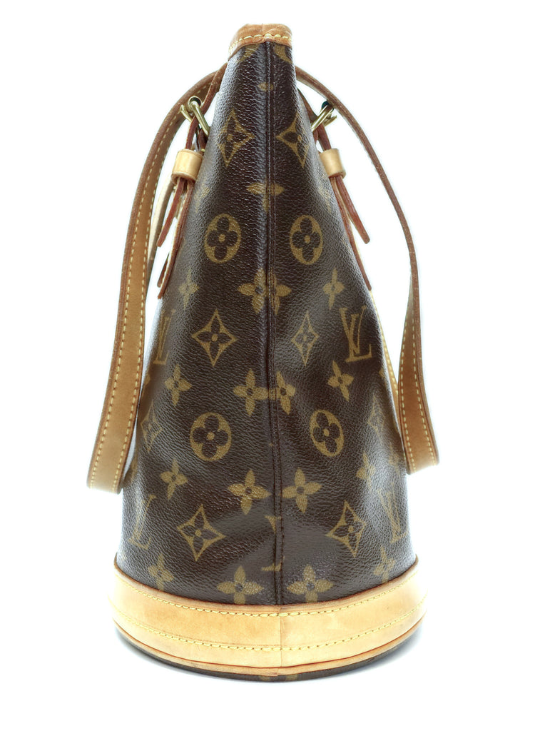 Petit Bucket Monogram Canvas Shoulder Bag with Pochette Bag
