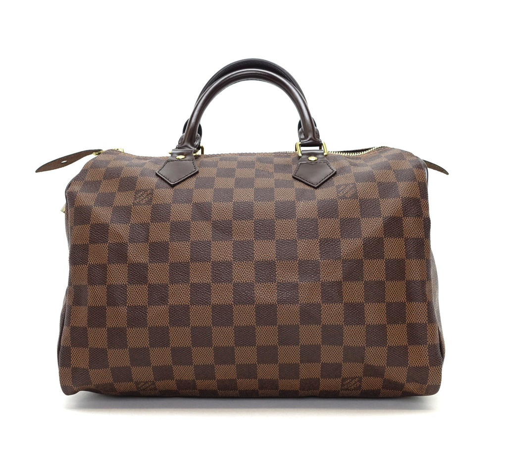 Speedy 30 Damier Ebène Canvas Handbag