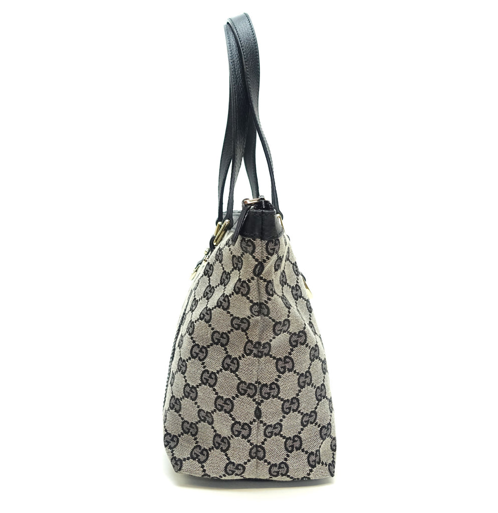 Abbey Monogram Canvas Zip Tote Bag
