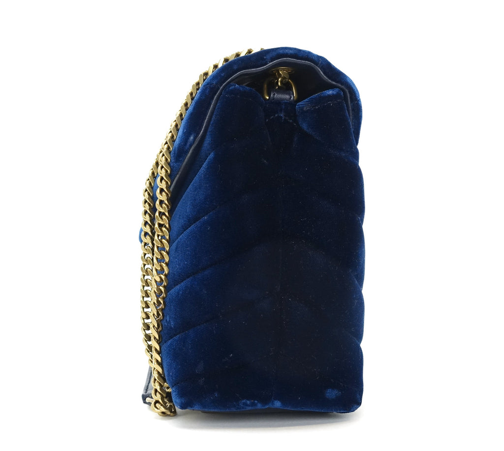 Loulou Matalasse Chevron Velvet Small Bag
