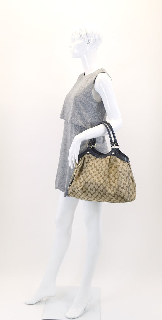 Sukey Medium Monogram Canvas Tote Bag