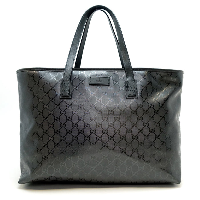 GG Monogram Imprime Coated Canvas Tote Bag