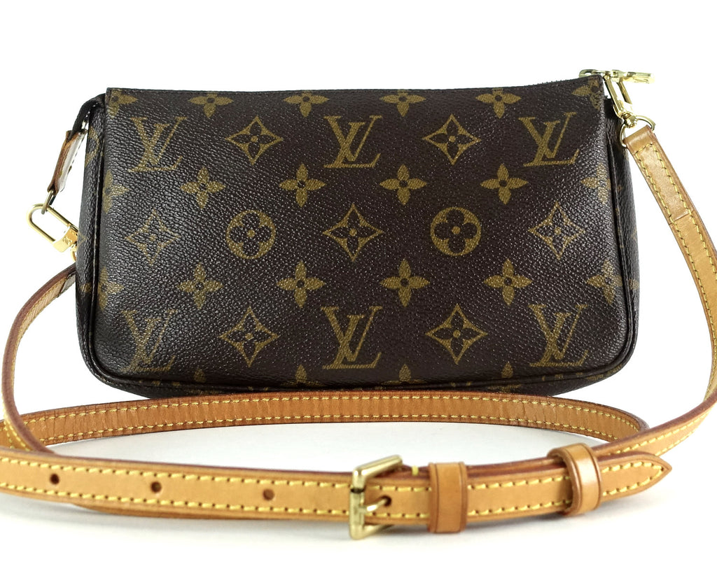 Pochette Accessoires Monogram Canvas Bag with Long Strap