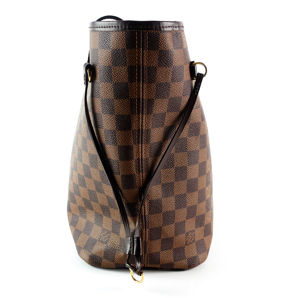 Neverfull MM Damier Ebène Canvas Tote Bag with Pouch