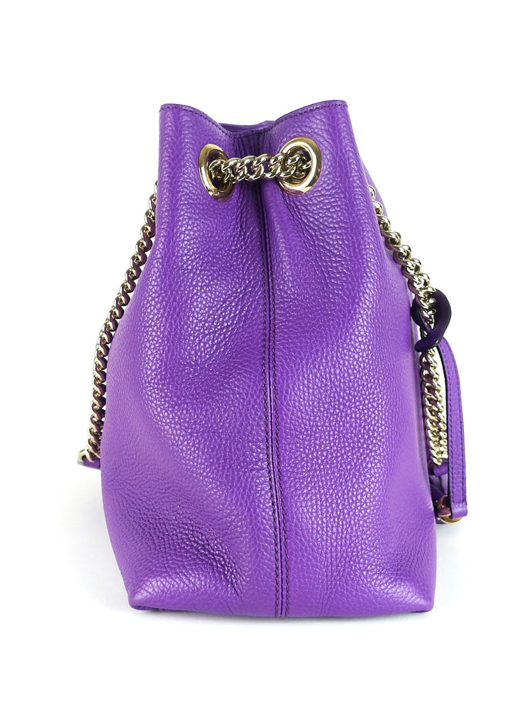 Soho Grained Leather Shoulder Bag