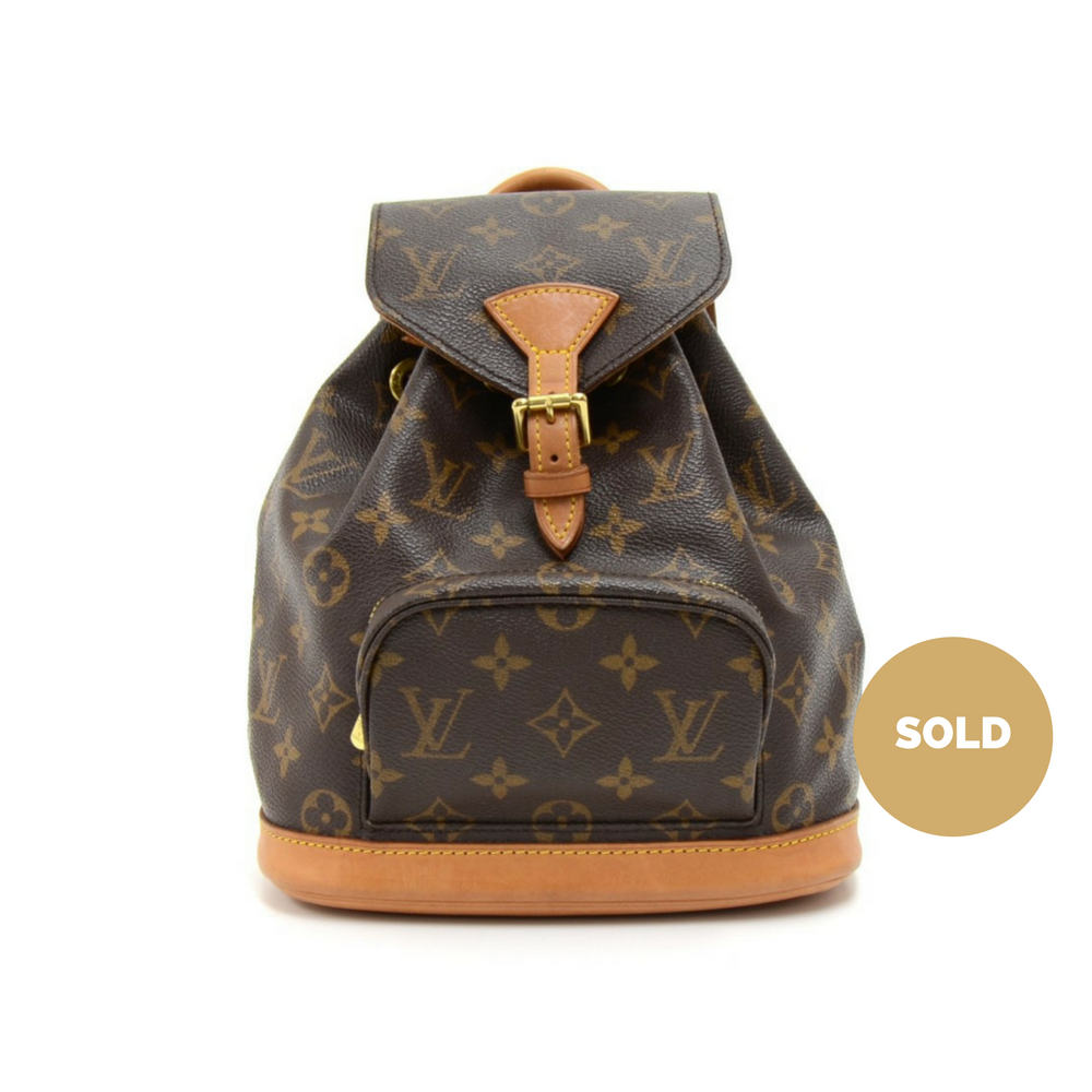 db71ba299439 Louis Vuitton Mini Montsouris Monogram Canvas Backpack Bag – Poshbag ...