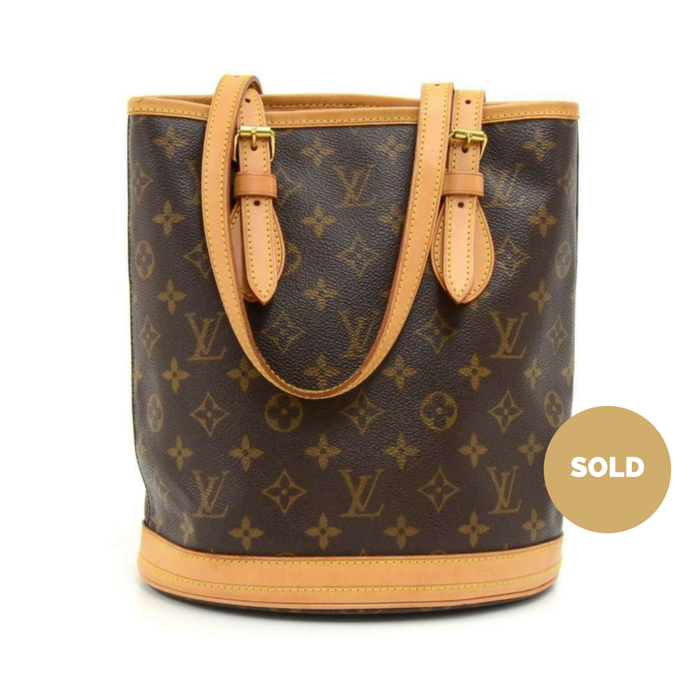 c07dc3e5d8 Louis Vuitton Bucket PM Monogram Canvas Shoulder Bag – Poshbag Boutique