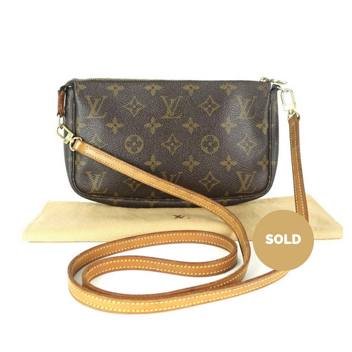 Pochette Accessoires Monogram Canvas Bag with Long Strap. Louis Vuitton 300efd21002fa