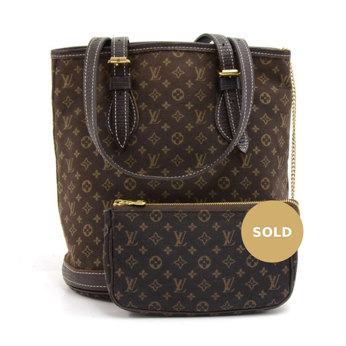 Bucket PM Mini Lin Monogram Ebène Canvas Shoulder Bag with Pouch · Louis  Vuitton f43c4cf5413fe