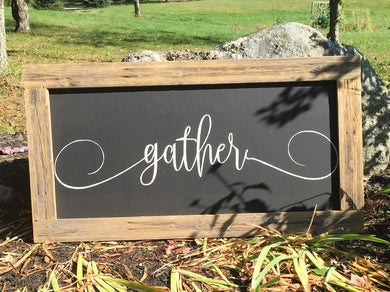 Gather - Barn Board Framed