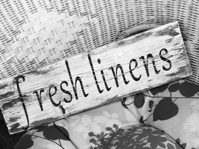 Fresh Linen Barn Board Sign