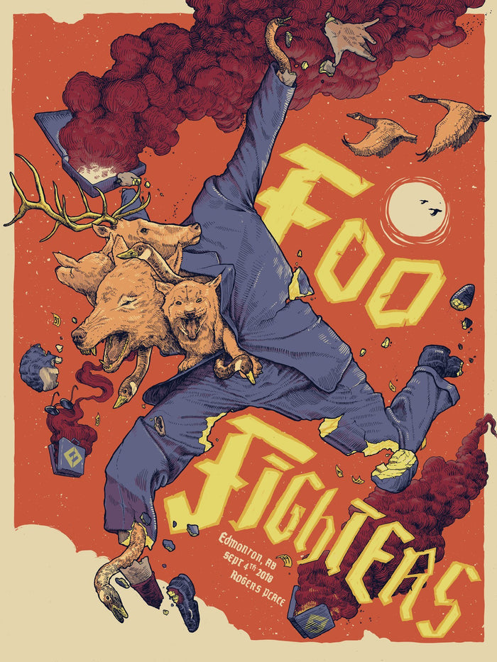 Edmonton Event Poster - Cancelled Show - Foo Fighters