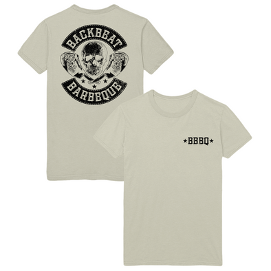 BACKBEAT BBQ LOGO TEE - NATURAL