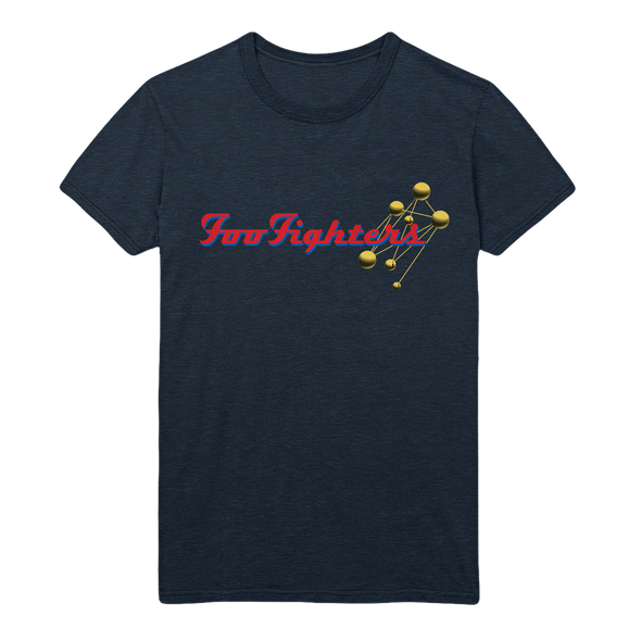 Molecules Tee - Heather Navy
