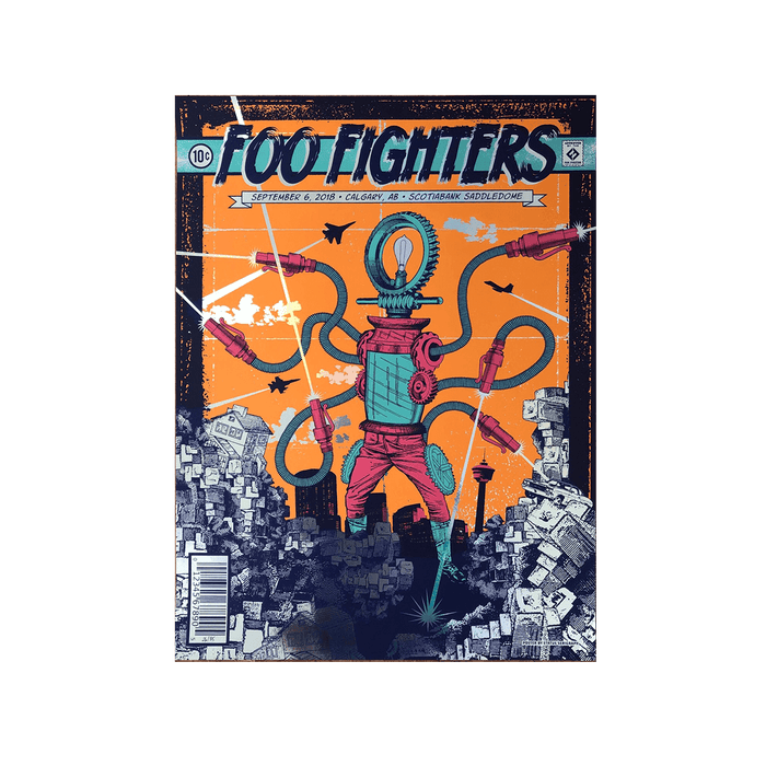 Calgary Foil Event Poster - Cancelled Show - Foo Fighters