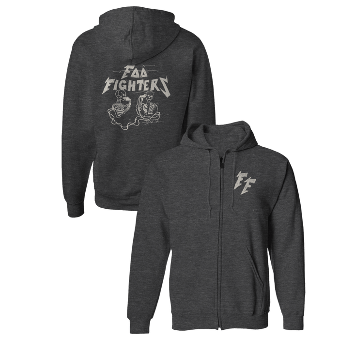 Hersher Sketch Zip-Up Hoodie - Foo Fighters