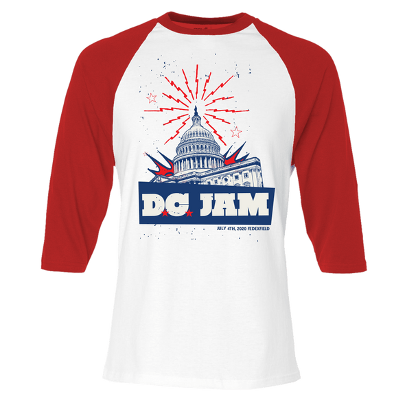 D.C. Jam Capital Red & White Baseball Tee