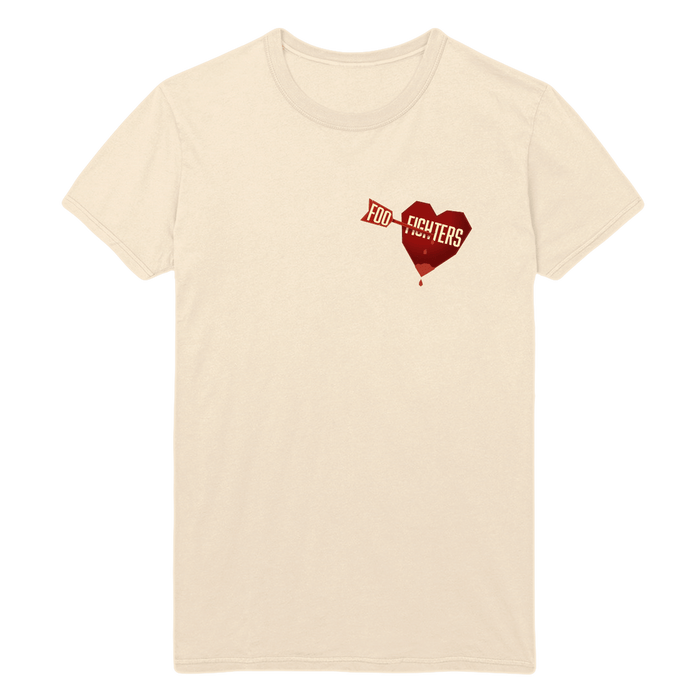 Arrows Heart Tee - Foo Fighters