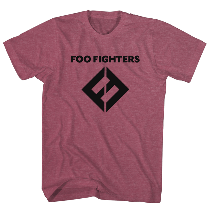 FF Equals Logo Tee (Heather Burgundy) - Foo Fighters