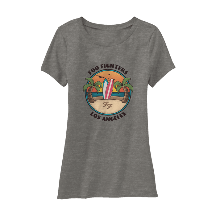 Beach Day Women's Tee (Heather Ash) - Foo Fighters