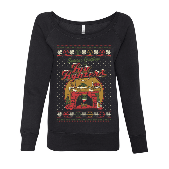Women's Holiday Fireplace Crewneck