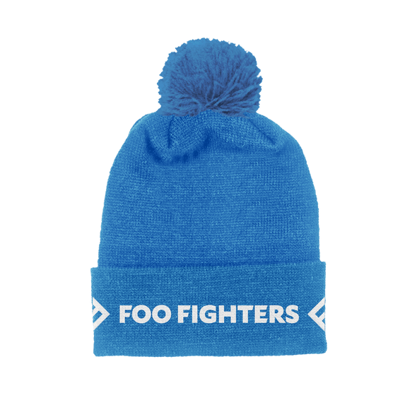 Blue Foldover Beanie - Foo Fighters