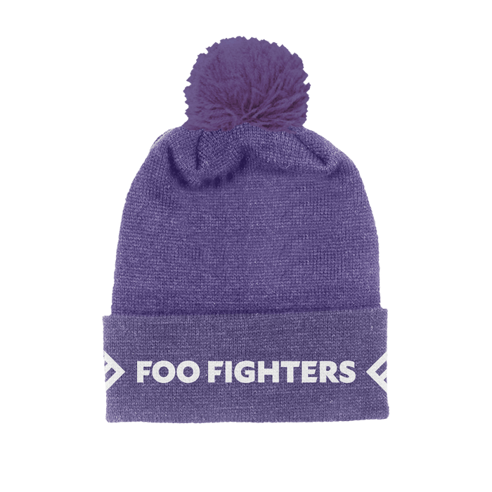 Purple Foldover Beanie - Foo Fighters