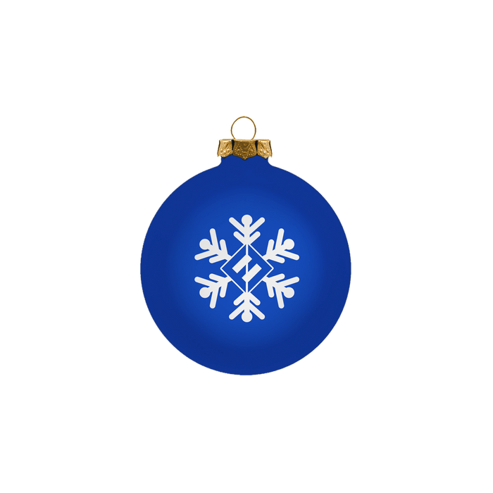 Blue Snowflake Ornament - Foo Fighters