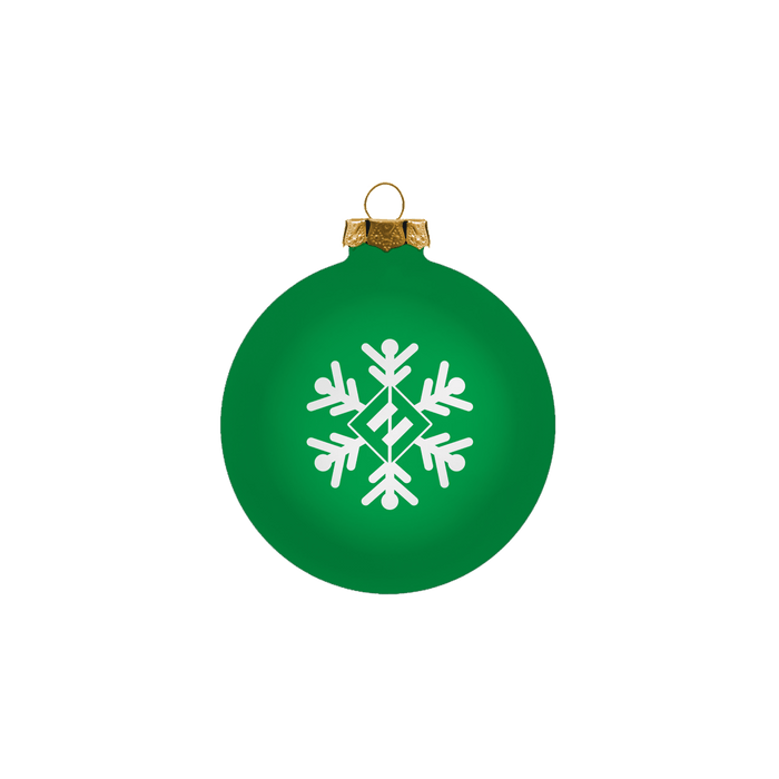 Green Snowflake Ornament - Foo Fighters