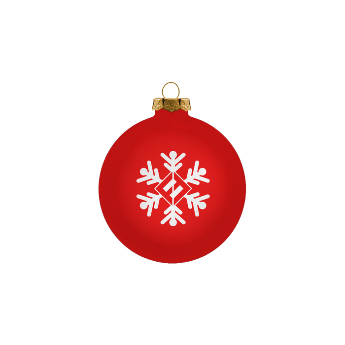 Red Snowflake Ornament - Foo Fighters