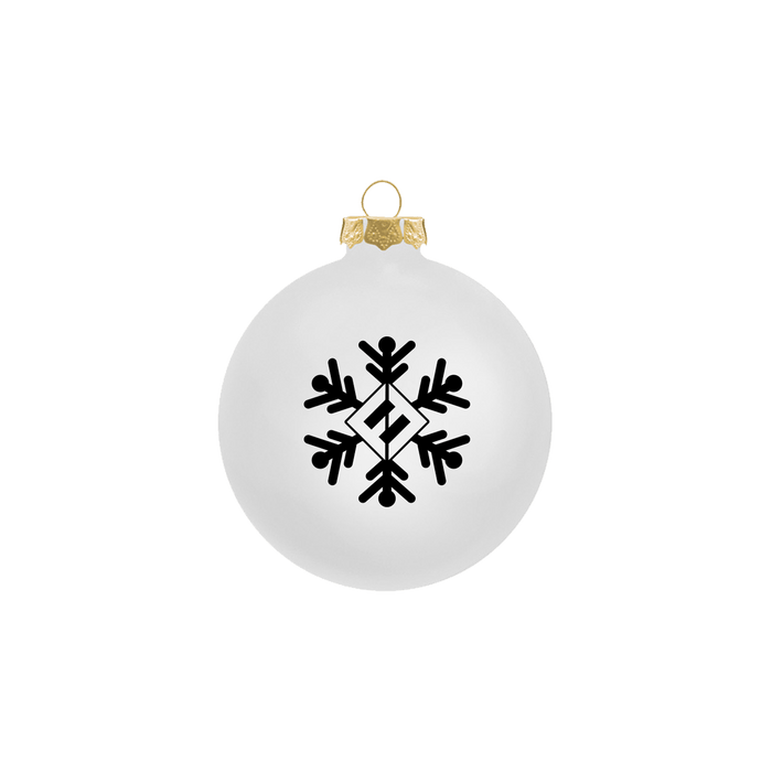 White Snowflake Ornament - Foo Fighters