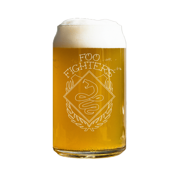 Snake Beer Can Glass - Foo Fighters