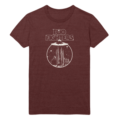 Abduction Burgandy Tee - Foo Fighters