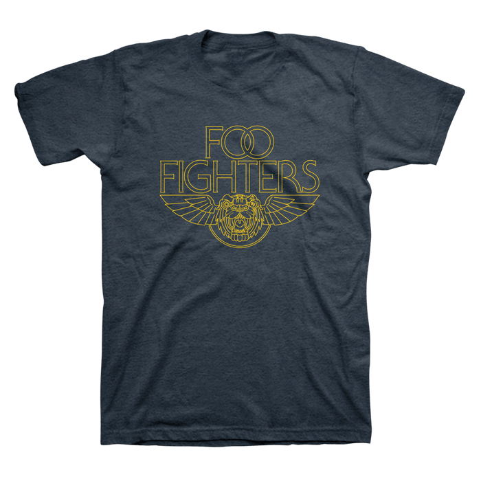 Tiger Wings Tee (Heather Navy) - Foo Fighters