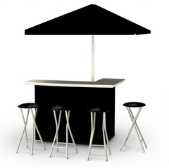 solid-black-bar-umbrella-stools