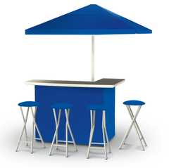 solid-royal-blue-bar-umbrella-stools