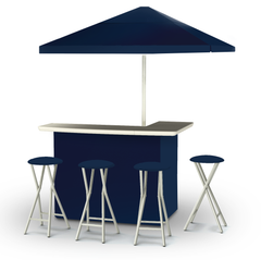 solid-navy-blue-bar-umbrella-stools