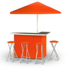 solid-orange-bar-umbrella-stools