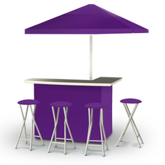 solid-purple-bar-umbrella-stools