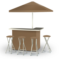 solid-light-brown-bar-umbrella-stools