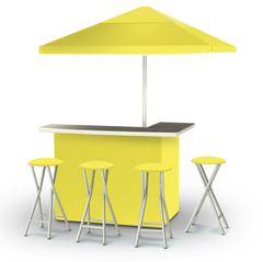 solid-yellow-bar-umbrella-stools